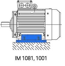 IM1081 монтаж электродвигателя 90кВт 750 об/мин на лапах
